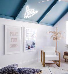 Pray for Surf Boys Surf Room, Girl Room, Surf House, Surf Shack, Beach Shack, Surfer Bedroom, Beachy Room, Three Birds Renovations, Bedroom Themes