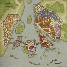 Fantasy Cities - Imgur perfect port city, exactly what I was looking for but cut off the land after the walls and make it an island.
