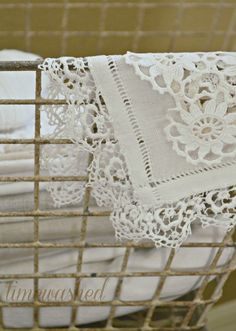 TIMEWASHED: Blissful White lace ~❥