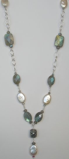 Starlite Jewelry Designs  Labradorite Necklace How to easily make jewelry at home - Free eBook at: EasyJewelryClub.com