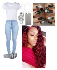 """""""Untitled #559"""" by queen-ayanna on Polyvore featuring Puma, RE/DONE, Allison Bryan, Michael Kors and Native Union"""