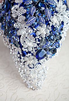 SALE READY to SHIP Cascading Brooch bouquet. by MagnoliaHandmade