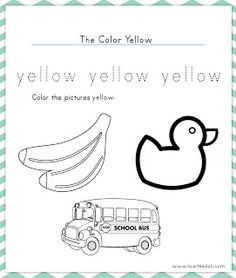 Here is our 2nd color of the week worksheets! This weeks color is Yellow!  (click image) Enjoy!
