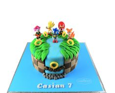 Seven Things You Probably Didn't Know About Sonic The Hedgehog Birthday Cake Sonic Birthday Cake, Sonic Birthday Parties, Sonic Party, Special Birthday Cakes, 4th Birthday Cakes, Lego Birthday Party, Bolo Sonic, Sonic Cake, Sonic The Hedgehog Cake