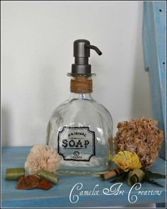 UpCycled Patron Bottle Soap Dispenser with by CamelotArtCreations, $33.00