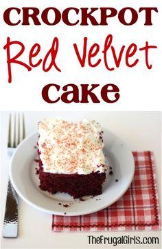 """""""Crockpot Red Velvet Cake"""" -- Recipe from The Frugal Girls"""