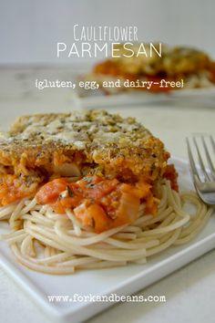 #Soy-Free, #Nut-Free, #Gluten-Free, #Vegan Cauliflower Parmesan