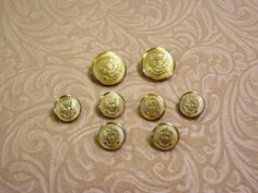 UNIFORM Button Lot Crowned Out Stretched Eagle by SoraCreations,