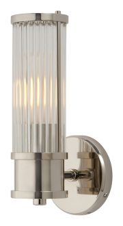 "ALLEN SINGLE SCONCE $484.00, Height: 11"", Width: 4 1/2"", Extension: 5"", Backplate: 4 1/2"" Round"
