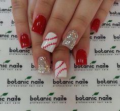 Love these baseball nails