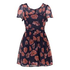 Floral pintuck tea dress.