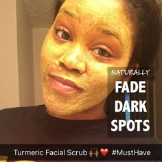 This scrub is absolutely AWE-Mazing! I really wasn't expecting to see results so quickly. But after just two days, I see a noticeable difference in my skin. Turmeric Facial, Turmeric Face Mask, Beauty Regimen, Skin Care Regimen, Beauty Tips, Beauty Products, Facial Scrubs, Facial Masks, Skin Treatments