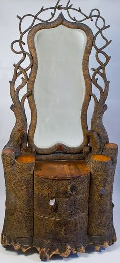 i need this in the cabin! Amazing twig/tree dressing table for woodland denizens