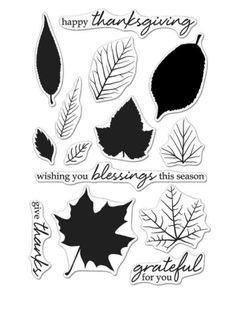 Decorate your Thanksgiving cards and other papercraft projects with the Color Layering Grateful Leaves Clear Acrylic Stamps by Hero Arts. This set includes 14 Thanksgiving Wishes, Fall Nail Designs, Penny Black, Simon Says Stamp, Ink Pads, Hero Arts, Fall Collections, Clear Stamps, Grateful