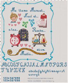 Hobby lavori femminili: schema punto croce quadretto