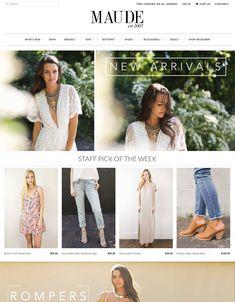 Website Design Layout, Website Design Inspiration, Web Design, Flora Dress, Swim Dress, Website Template, Ecommerce, Templates, London