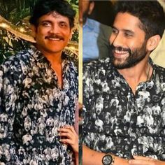 Naga Chaitanya sporting exact same shirt as Nagarjuna Akkineni is true father son goals Promotional Events, Lifestyle News, Father And Son, Fashion Games, Printed Shirts, Sons, Men Casual, Entertainment, Actors