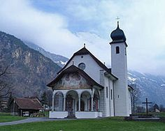 cute church in Switzerland