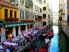Park your Gondola and get your table on the canals of Venice. Should I reserve you a spot???