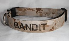 Military Dog Collar  Emroidered  With Your by chiwawagearharnesses, $22.00
