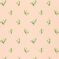 Lily of the Valley #wallpaper in #pink from the Small Print Resource 2 collection. #Thibaut