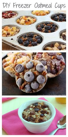 DIY Freezer Oatmeal Cups #mealprep #organize #healthy