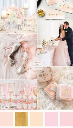 Rose Quartz Wedding Colour { Wedding Colour Trends 2016 } itakeyou.co.uk