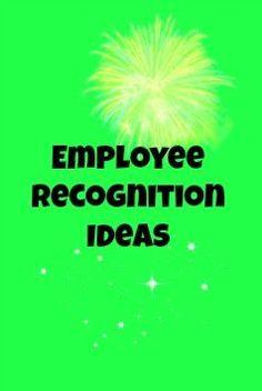 Employee Recognition Appreciation Award Ideas - University of Washington employee recognition #motivation