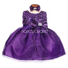 Purple Glittery Swirls Infant Gown