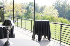 intimate waterside patio space for cocktail reception