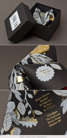 Mulberry Autumn/Winter 11 invitation Designed by Mulberry in-house design team