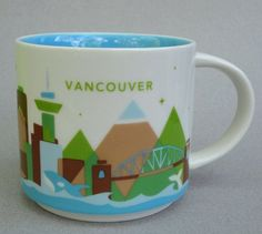 Starbucks Mug Vancouver BC Canada, You Are Here Collection 2012 boxed