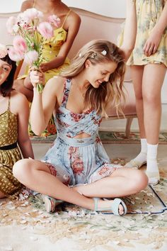 Spring is in full swing. We're ready for every special day ahead in the Kimchi Blue Watercolor Romper. by urbanoutfitters Kinds Of Clothes, Clothes For Women, Fancy Clothes, Summer Outfits, Cute Outfits, Floral Romper, Boho Fashion, Grunge Fashion, Teen Fashion