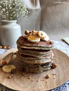 Pancakes express à la banane {sans sucre et sans matière grasse}