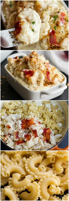 Lobster Mac Cheese. Not an everyday meal, but there may be a special occasion soon enough. Use shrimp instead.
