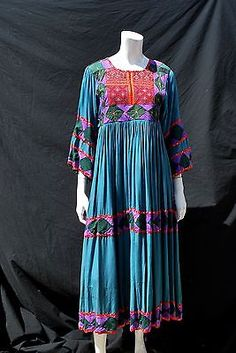 #Vintage kuchi #afghan dress hippie boho 70's ethnic embroidered quilted #handmad,  View more on the LINK: 	http://www.zeppy.io/product/gb/2/271885145937/