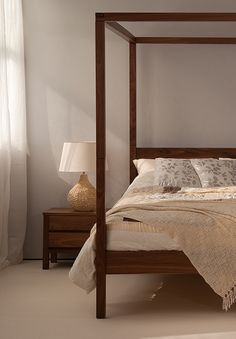 Walnut Bedroom Furniture Uk a modern classic! a solid walnut four-poster bed from natural bed