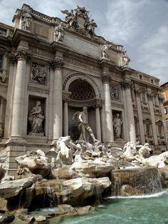 Dolce vita at Fontana di Trevi in Rome, Italy.
