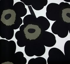 Big And Bold Black Florals On This Wallpaper