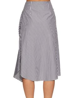 J.W.Anderson Gingham ruffled cotton skirt