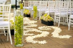 great aisle decor we  did for L'Auberge