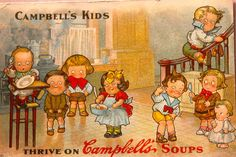 Advertising Post Card for Campbells Soup & Kids 1912- Grace Drayton
