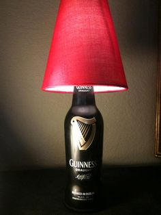 Items similar to Guinness Beer Bottle Light with Shade on Etsy Beer Bottle Lights, Beer Bottles, Irish Pub Interior, Guiness Beer, Painted Chandelier, Guinness Draught, Diy Bottle, Fine Wine, Craft Beer