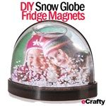 "Our customer favorites return for the holidays! www.eCrafty.com Add a photo to the back of this pre-filled (already contains liquid and snowflakes!) 3"" miniature magnetic snow globe frame. Magnetic, flat-backed - great for the fridge or locker! Great little stocking stuffer or quick gift topper."