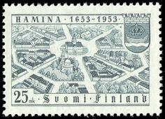 Stamp: Hamina (Fredrikshamm) from the Air, Coat of Arms (Finland) Years City of Hamina) Mi:FI 424 My Roots, Stamp Collecting, Old Toys, Coat Of Arms, Time Travel, Postage Stamps, Finland, Old Things, Childhood