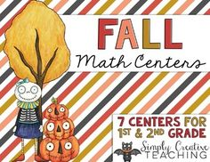 Included in this pack are 7 Differentiated Math Centers for 1st & 2nd Grade!Here's a look at the centers:Batty Time  practice telling time to the quarter hourPlace Value  work with numbers, expanded form, word form, & base ten representation (2 digit & 3 digit versions included)Pumpkin Puzzlers  find one more, one less, ten more and ten less (2 digit and 3 digit versions included)Ghostly Fact Families  puzzles to practice part-part-whole & fact families (numbers 5 to 20 included.