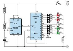 Flashing Lights for Planes and Helicopters #Circuit Diagram #EEE