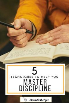 Five techniques to help you master self discipline and enhance your personal growth.
