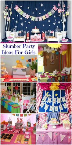 Slumber Party Ideas For Girls (Collection) - Moms & Munchkins Sleepover Birthday Parties, Girl Sleepover, Slumber Party Games, Birthday Party For Teens, Birthday Fun, Birthday Party Themes, Sleepover Activities, Birthday Ideas, Teen Girl Parties