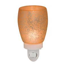 "Scentsy Plug-In Warmer ""Cream Glass"". The perfect sigh of warm, speckled light with a lovely cream glow."